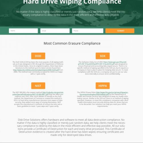 Hard Drive Wiping Compliance